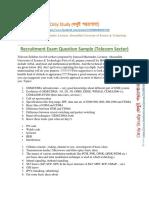 Recruitment Exam Question Sample Telecom Sector