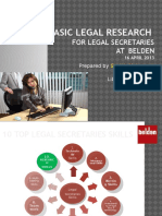 Basic Legal Research for Secretaries