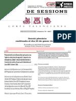 Projecte de llei, de la Generalitat, pel qual es crea  l'agència valenciana de seguretat i resposta a les  emergències. Debat i votació del dictamen de la  Comissió de Justícia, Governació i Administració  Local