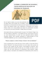 Considerações Sobre a Confecção de Um Sigilo, Com Resultados Práticos Na Solução de Problemas No Trabalho