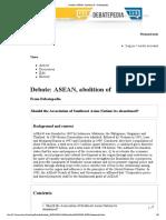 Debate_ ASEAN, Abolition of - Debatepedia