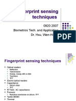 01 Fingerprint Sensing Techniques