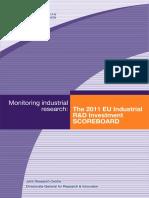 The 2011 EU Industrial R&D Investment Scoreboard