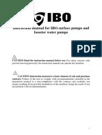 IBO Pressure Boost Pump