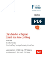 Chrestersiation of Degraded Solvent From Amine Scrubbing