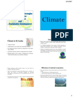 Climate Policies, strategies and institutions in Sri Lanka and Sustainable development