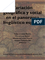 Variación geográfica y social en el panorama lingüístico español