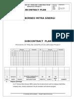 1.8 Subcontract Plan