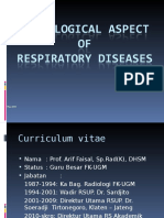 Radiological Aspect of Respiratory Diseases (Prof. Arif)