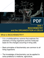 Unit 1 Biochemistry and the Organization of Cells