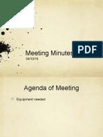 Meeting Minutes 04/10/16