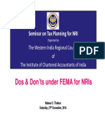 WIRC Dos and Donts Under FEMA for NRIs
