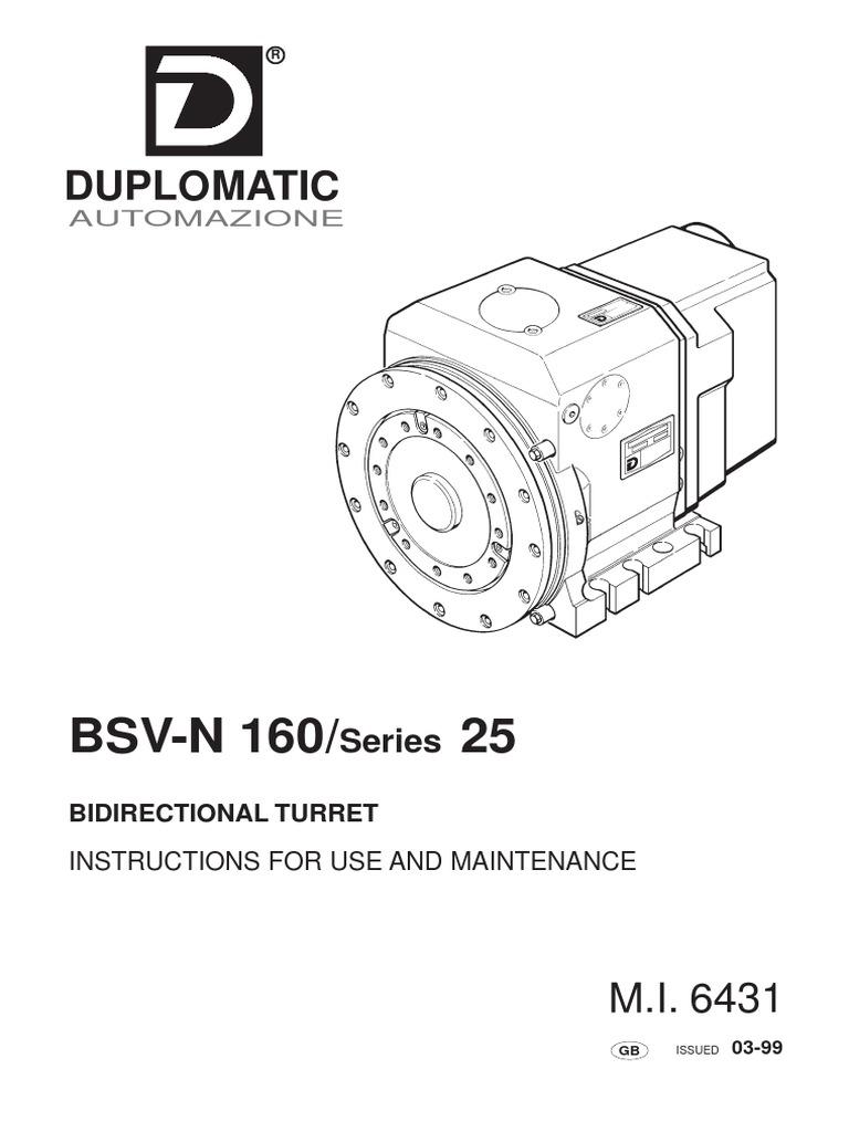 BSV-N 160/ 25: Duplomatic