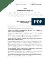 Proiect in dezbatere - Structura Anului Scolar 2017-2018