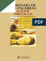 El Reflejo de Las Palabras - Kader Abdolah