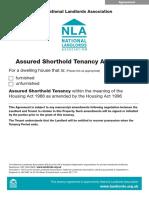 NLA Assured Shorthold Tenancy Agreement