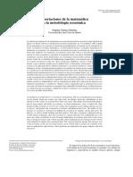 Aportaciones de la matemática a la metodología económica