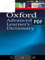 Oxford Advanced Learner's Dectionary