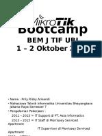 Mikrotik Bootcamp