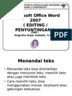 Editing Word 2007 1