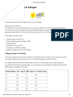 AltE_NominalVoltage_Solar Panels (PV) and Voltages