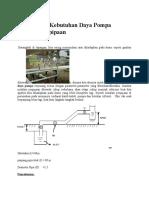 Menghitung Kebutuhan Daya Pompa Instalasi