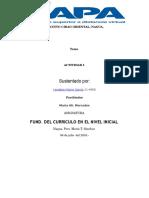 Tarea 1 Fundameto Del Curriculum Del Nivel Inicial