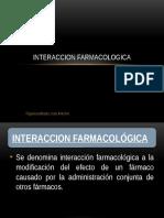 Interaccion farmacologica