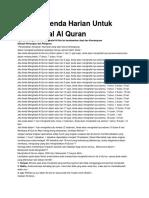 Ini Dia Agenda Harian Untuk Menghapal Al Quran
