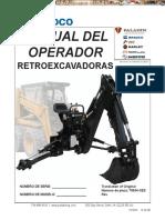 Manual Operador Retroexcavadoras Pieza 75634 Xes Bradco