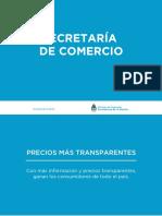 Precios Más Transparentes - Secretaria de Comercio de la Nación - Resolucion 31012017