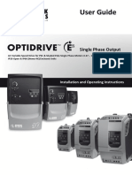 Invertek Optidrive E2 Single Phase Manual