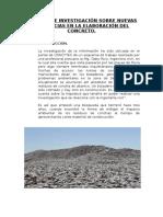Informe de Investigación Tecnologia Del Concreto