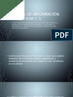 Norma de Información Financiera C-1