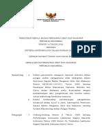 PKBPOM No. 16 Tahun 2016 - Tentang Kriteria Mikrobiologi Dalam Pangan Olahan