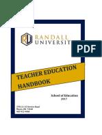 School of Education Handbook 2017