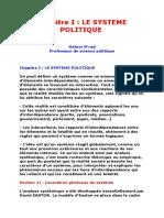 Chapitre I 2 3 Politique