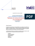 Métodos de Recolección de Datos Para Una Ivestigación