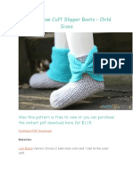 Crochet Bow Cuff Slipper Boots – Child Sizes