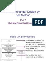 Bell Method to Design Exchanger