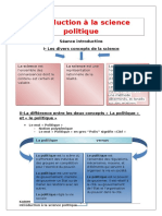 Introduction La Science Politique