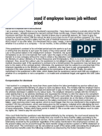 Ban May Be Imposed if Employee Leaves j...t Serving Notice Period _ GulfNews