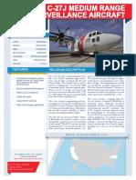 USCG's Medium Range Surveillance Aircraft - C27J