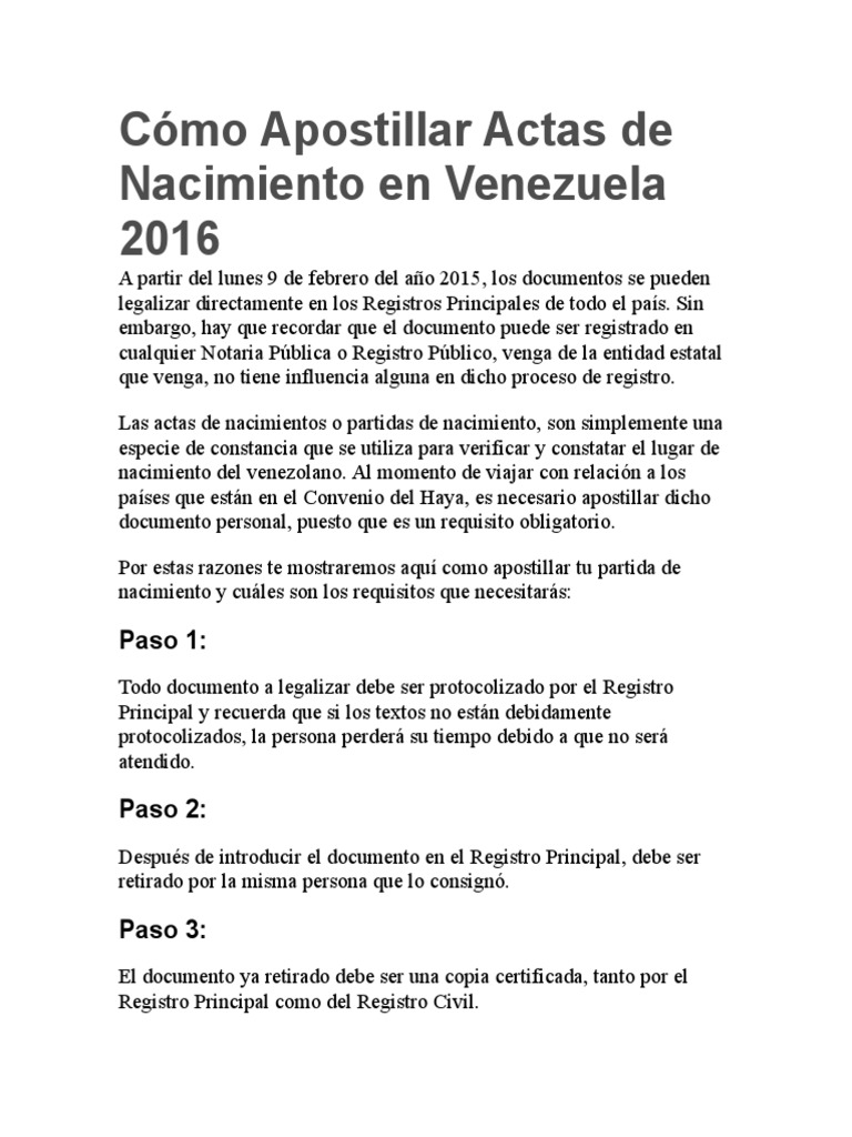 Lujoso Apostillado Copia Del Certificado De Nacimiento Elaboración ...