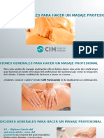 CIM Formación - Condiciones para hacer un masaje