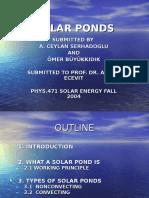 471-2004-1-Solar Ponds, Ömer Büyükkidik, A. Ceylan Serhadoðlu, 2004-1