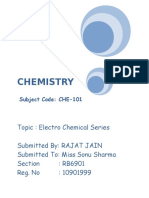 Electro Chemical Series Chemistry