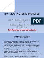 BAT-202 Profetas Menores Introducción