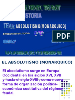 ABSOLUTISMO(MONARQUICO)
