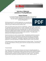 Material Testing Methods